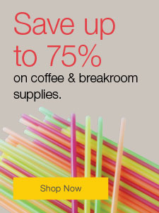 Up to 40% off coffee and breakroom supplies.