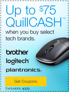 Up to $75 QuillCASH™ when you buy select tech brands.