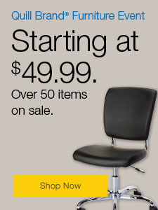 Quill Brand Furniture Event. Deals starting at $49.99 over 50 on sale.