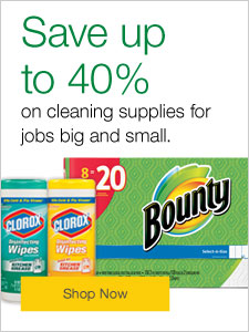 Save up to 40% on cleaning supplies for job big and small.