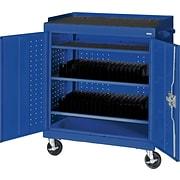 Blue Mobile Tablet Storage Cart; 43x36x24