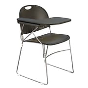 KFI (r) Seating Polypropylene Sled Base Chair With Left Hand P-Shaped Writing Tablet; Black, 4/Ct
