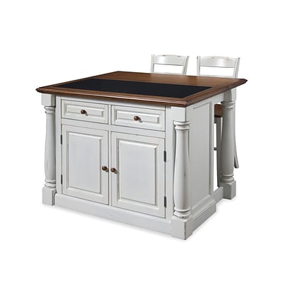 Home styles 36 solid hardwood veneer monarch kitchen for Quilling kitchen set