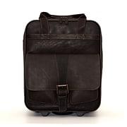 Jill-e Designs (tm) Jack Leather Large Rolling Camera Bag; Brown