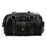 Jill-e Designs (tm) Leather Small DSLR Camera Bag; Black