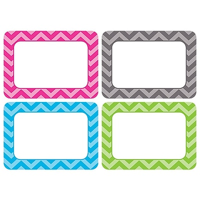 teacher created resources all grade name tags label chevron multi pack 36 pack. Black Bedroom Furniture Sets. Home Design Ideas