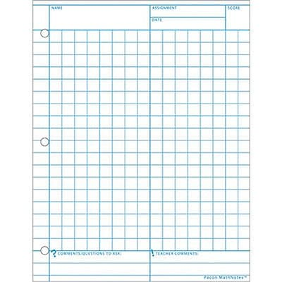 Pacon® Math Notes® Graph Paper, 8-1/2x11