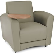 OFM Interplay Polyurethane Single Seat Tablet Chair; Taupe