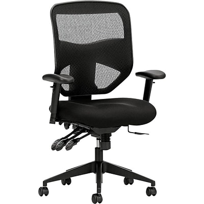 hon prominent mesh high back task chair asynchronous control seat