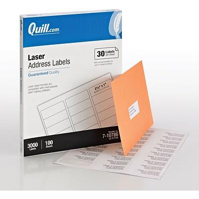 quill brand 1x2 5 8 white laser labels. Black Bedroom Furniture Sets. Home Design Ideas