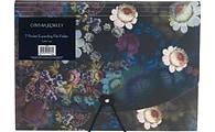 Cynthia Rowley Dark Floral 7-pocket expanding file