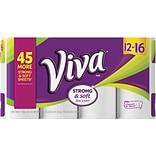 Viva® Choose-A-Sheet™ Paper Towels, 1-Ply, White, 88 Sheets/Roll, 12 Big Rolls/Pack (44091)