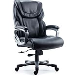 Quill Brand® Denaly Big & Tall Bonded Leather Manager Chair, Black (51468)