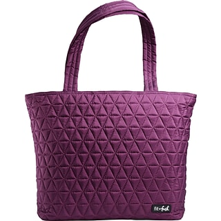 Quilted Tote - Plum with $325 order