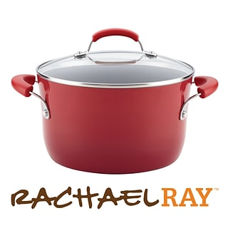 Red 6qt stockpot with $350 order