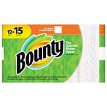 Bounty® Full Sheet Paper Towels, White, 2-Ply, 45 Sheets/Roll, 12 Large Rolls = 15 Regular Rolls (74