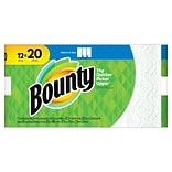 Bounty® Select-A-Size™ Paper Towels, White, 2-Ply, 105 Sheets/Roll, 12 Mega Rolls = 20 Regular Rolls