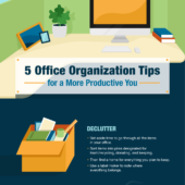 5 office organization tips for a more productive you