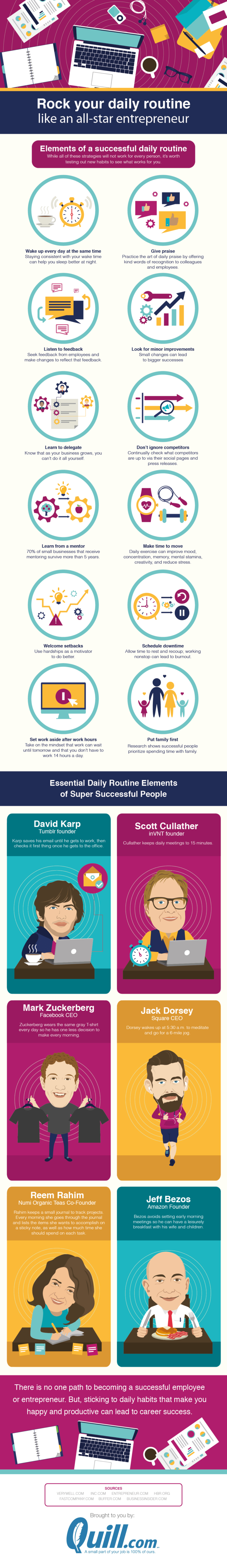 Rock your daily routine like an all-star entrepreneur