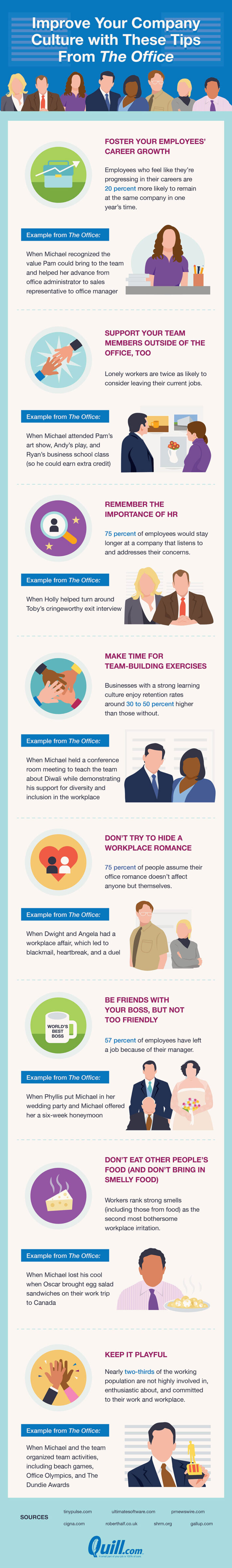 Company culture tips from the office