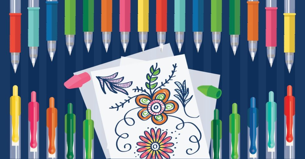 How To Color Like A Boss Gel Pens And Coloring Books For