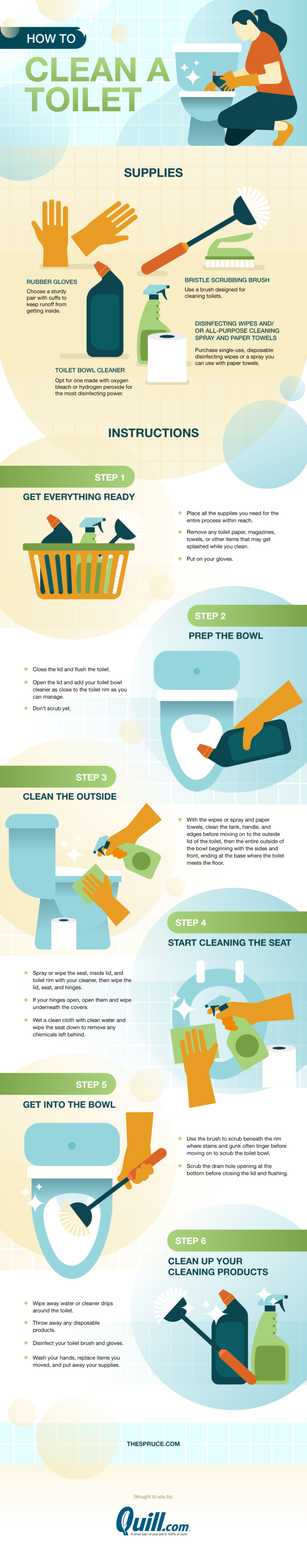 Here's exactly how to clean a toilet
