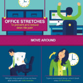 Office stretches to prevent and reduce desk-life pain