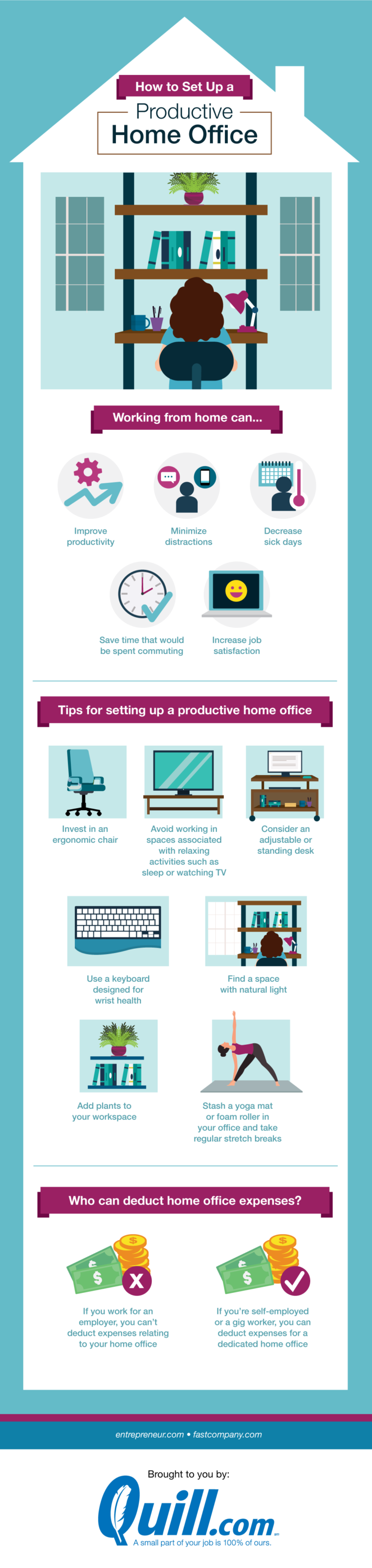 Tips for setting up a productive remote home office