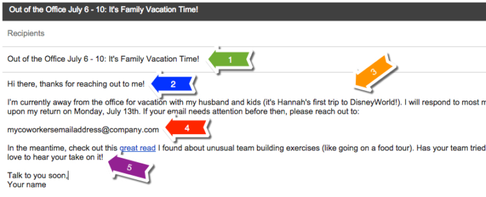how to write out of office email huffington