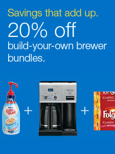 Savings that add up. 20% off build-your-own brewer bundles.