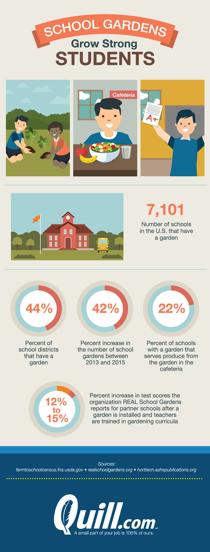 Benefits of School Gardens [Infographic] | ecogreenlove
