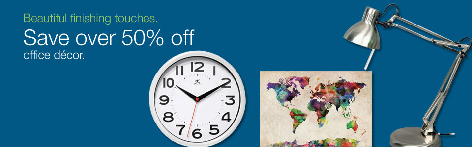 Save more than 50% on office décor.