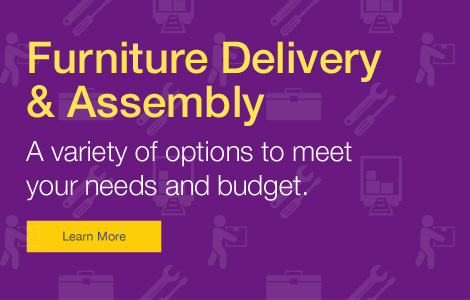 Full-Service Delivery & Set-up. FREE when you spend $1,000 or more on furniture.