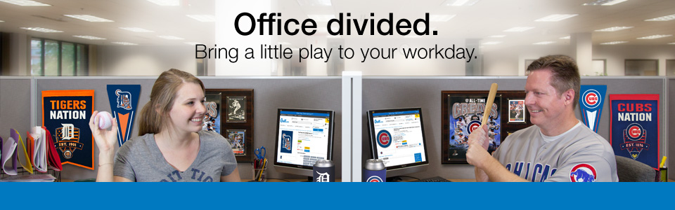 Office divided. Bring a little play to your workday.