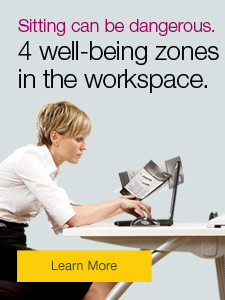 Sitting can be dangerous. 4 well-being zones in the workplace.