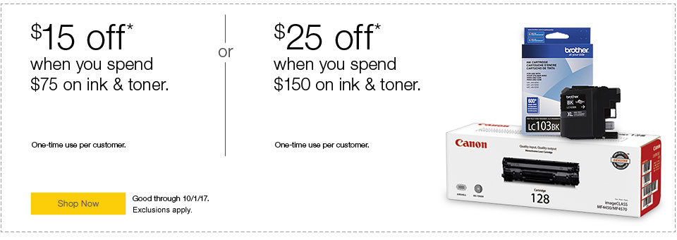 Ink & toner special offers.