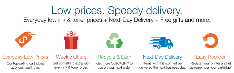 Lower prices. Speedy delivery.