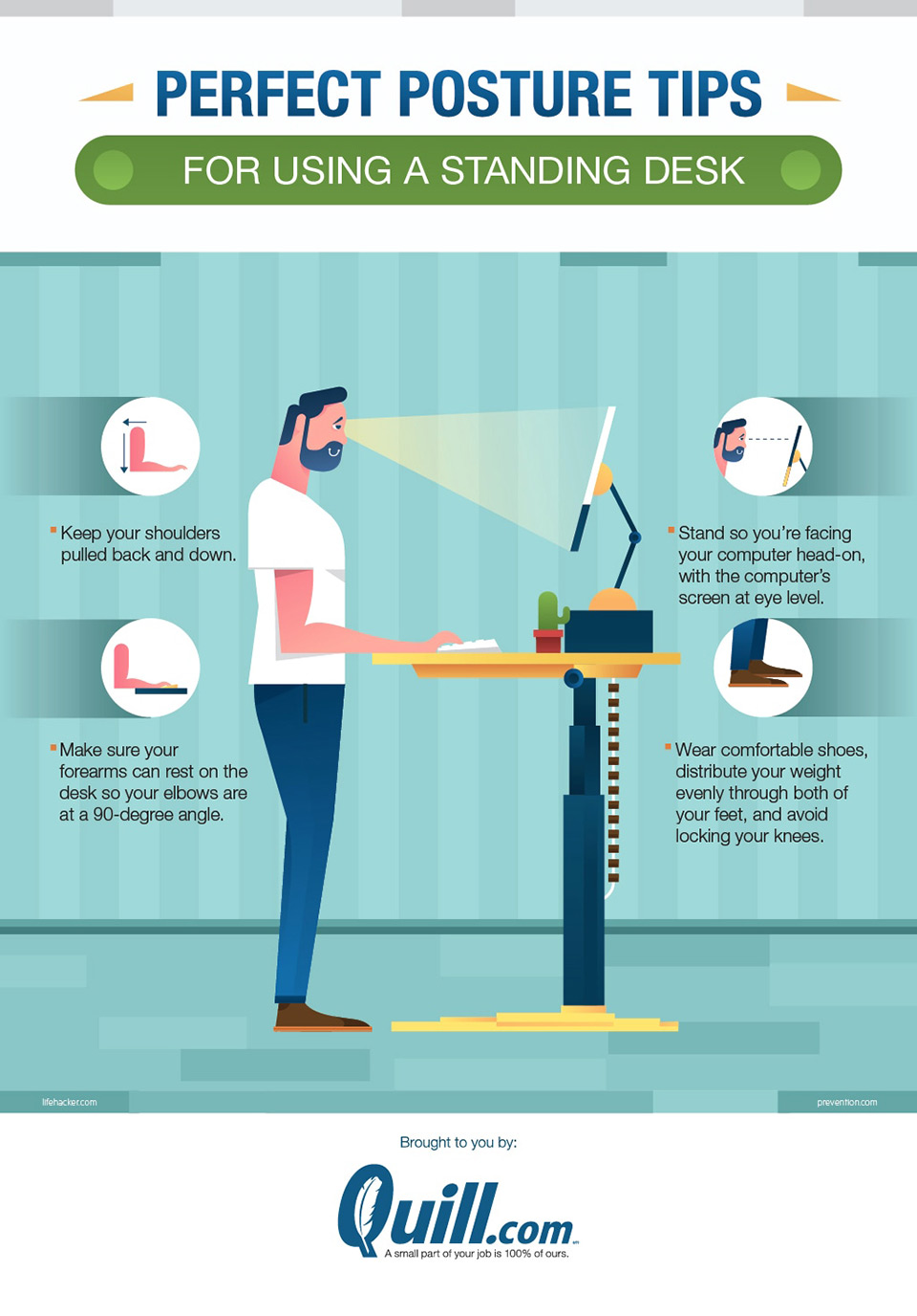 The benefits of standing desk