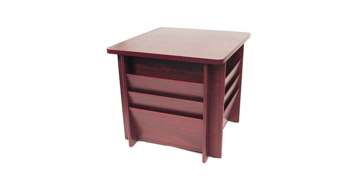Buddy Products® Square Wood Reception Table