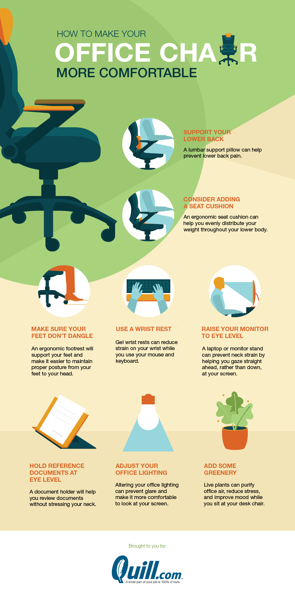 How To Make An Office Chair More Comfortable Quill Com