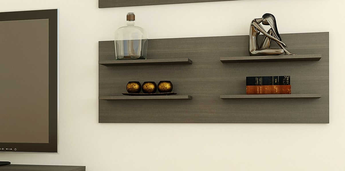 Allure Decorative Wall Panel with 4 shelves from Nexera
