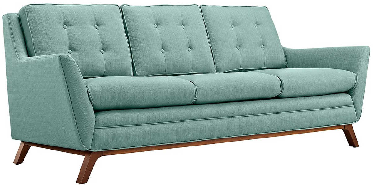 Modway Beguile Fabric Sofa, Blue