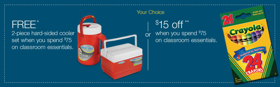 $20 off when you spend $100 on classroom essentials.