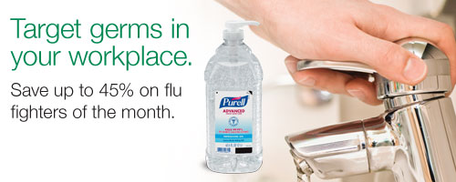 Target germs in your workplace. Save up to 45% on flu-fighters of the month.