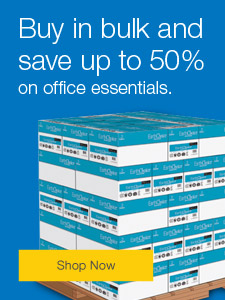 Buy in bulk and save up to 50% on office essentials.