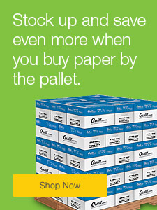 Stock up and save even more when you buy paper by the pallet.