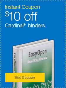 $10 Off $40 when you buy Cardinal Binders