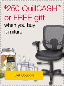$250 QuillCASH or FREE gift when you buy furniture.
