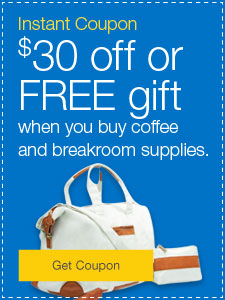 $40 off or Free gift when you buy coffee and breakroom supplies.