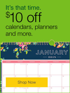 It's that time. $10 off calendars and planners.